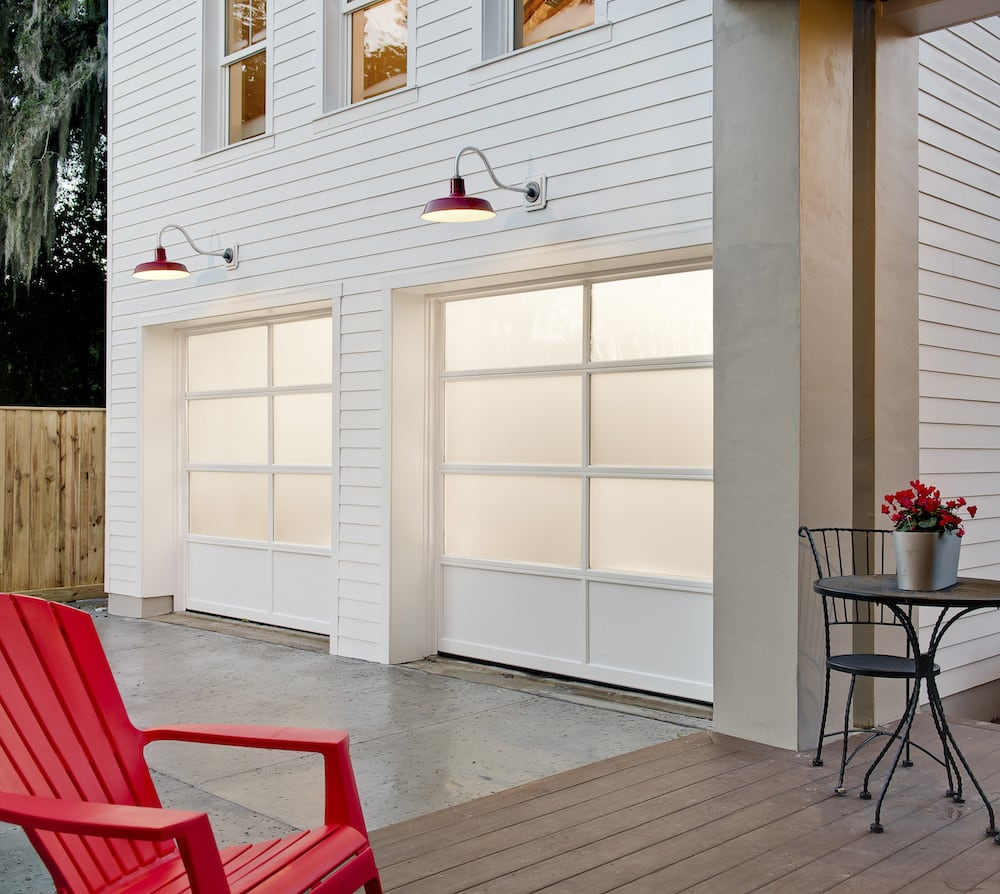 Houston Contemporary Garage Doors Woodlands Mdern Design Full View