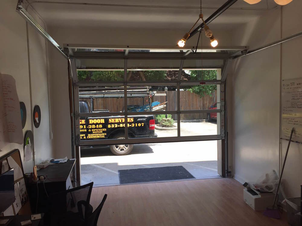 Doors To Garage: Houston Contemporary Garage Glass Doors